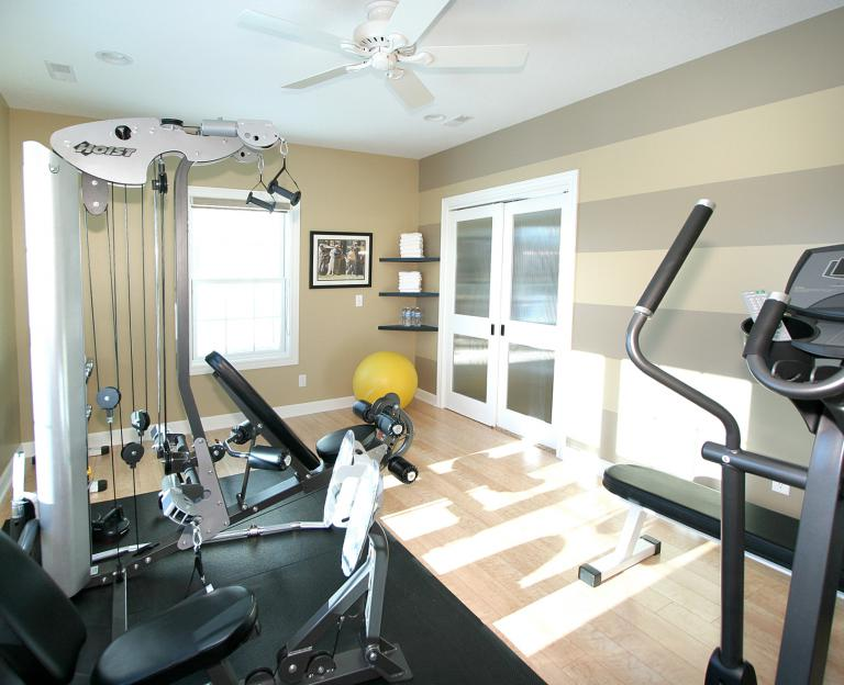 Shed converted to fitness room