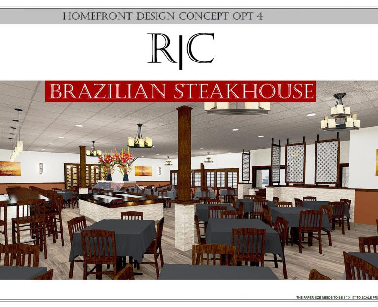 CAD rendering R|C Brazilian Steakhouse