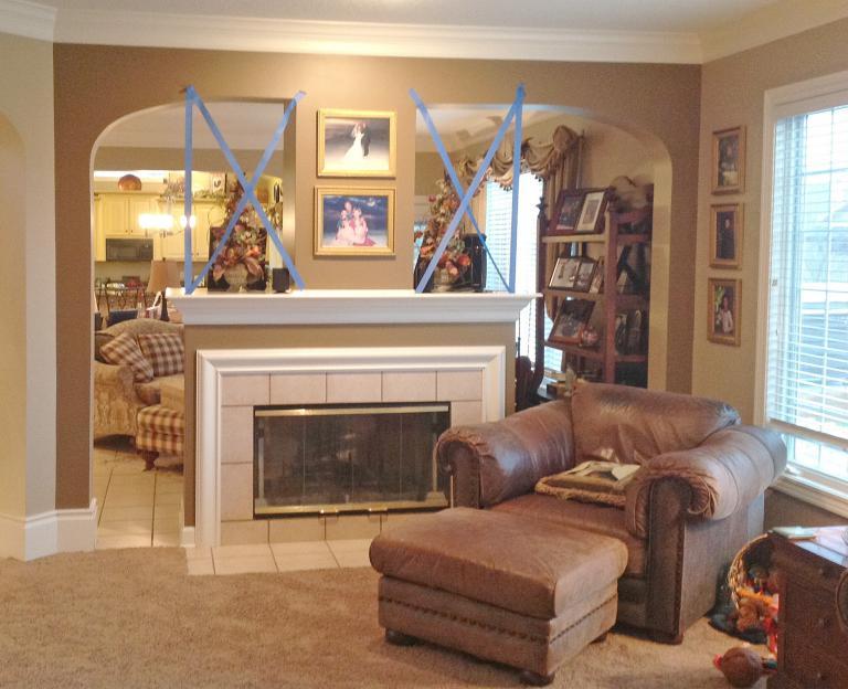 Flat Screen TV Above Fireplace