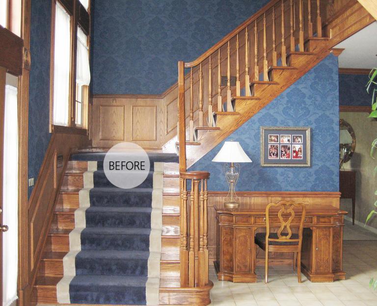 Foyer Paint Makeover