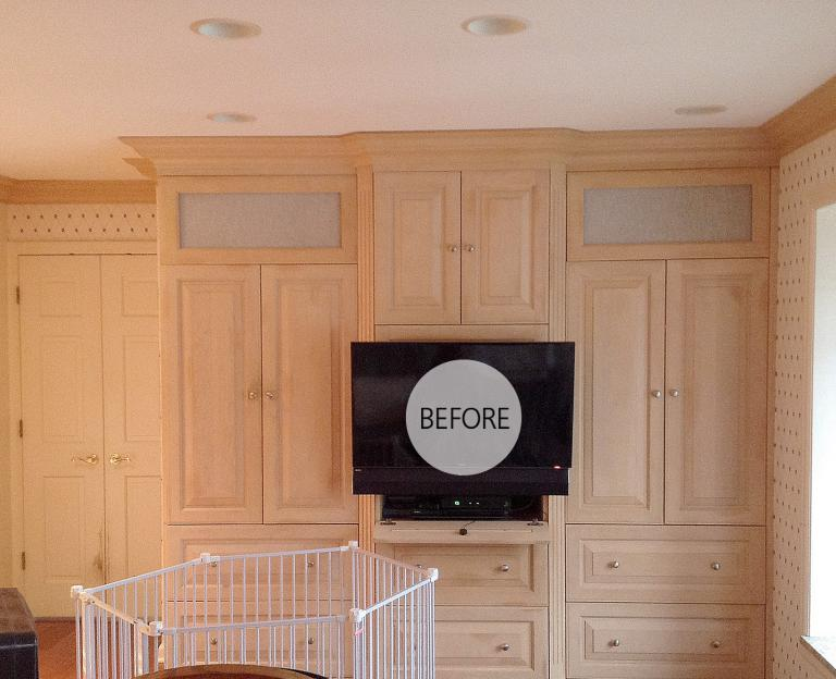 PAINTED EXISTING CABINETS