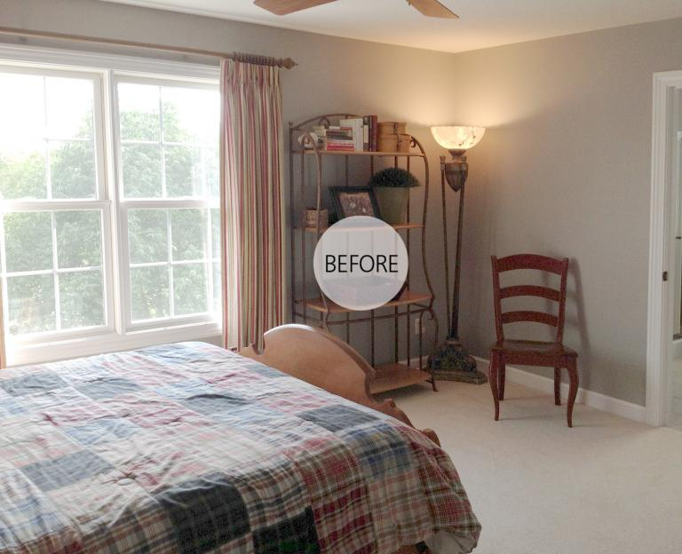 Gray Check Guest Room