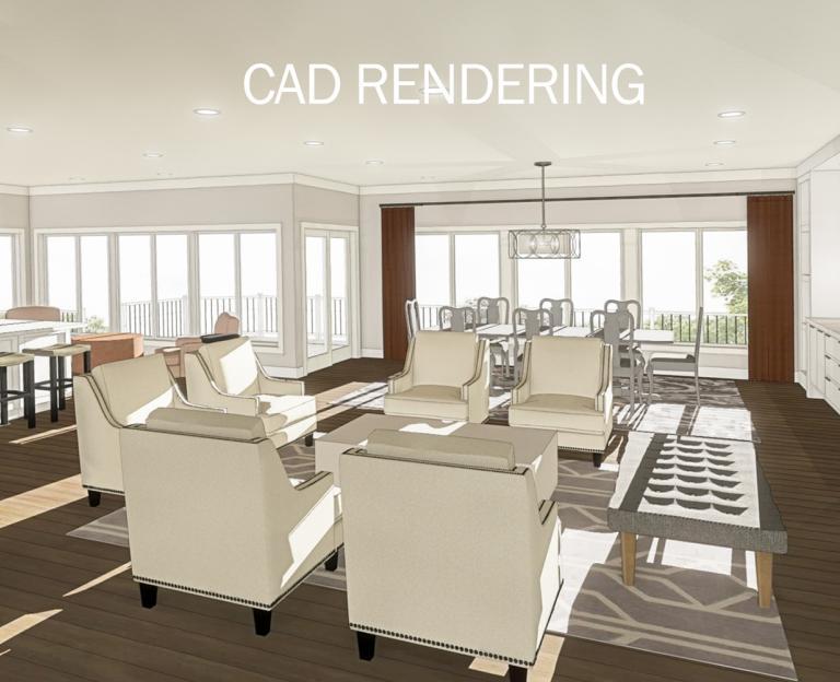 CAD rending great room