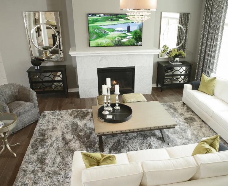 Living marble fireplace