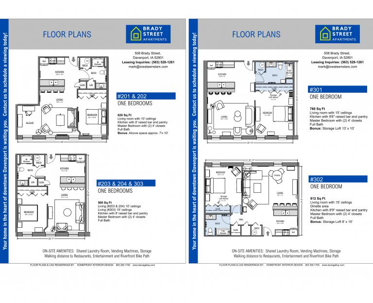 Brady St Apts Floor PLans