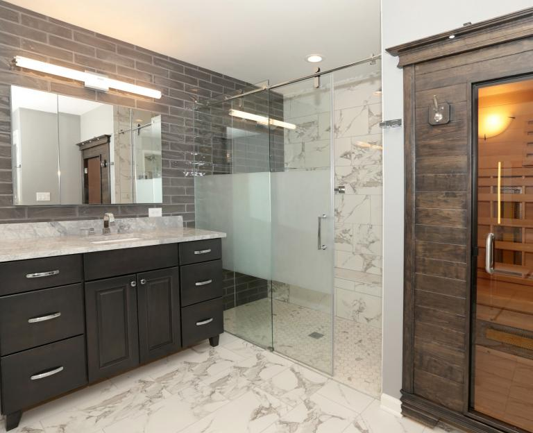 Master Bath With Sauna